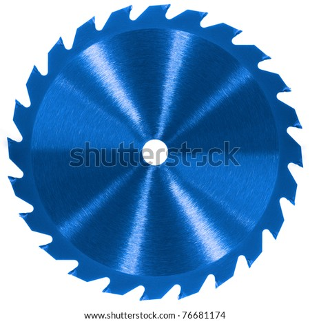 Whole saw blade - Blue - stock photo