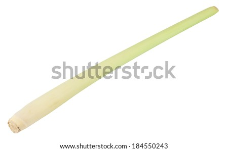 Whole stick of lemongrass isolated on white