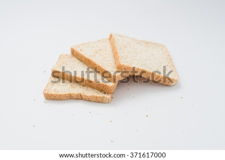 whole wheat bread ,bakery , isolate on white background