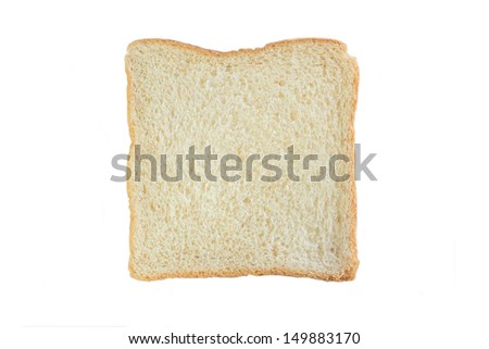 Whole wheat bread, isolated on white