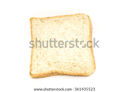 whole wheat bread isolated white background