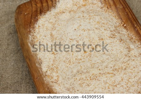 whole-wheat flour - stock photo