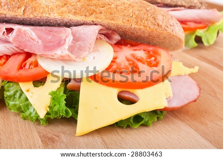 whole wheat stuffed sandwich