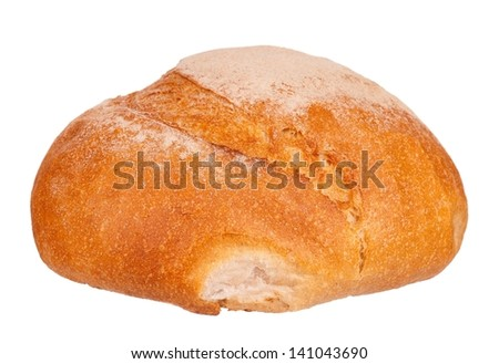 Whole white bread isolated on white background cutout - stock photo
