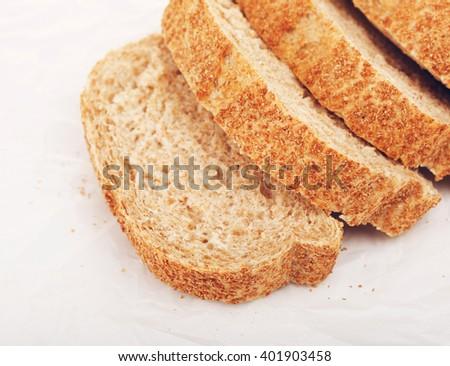 Wholegrain White Bread - stock photo