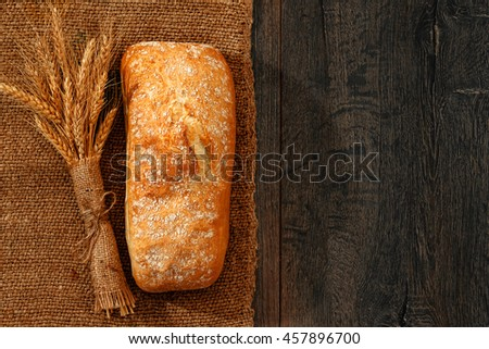 Wholemeal breads in a basket