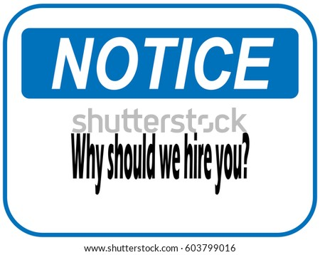 why should we hire hand writing stock illustration 603799016