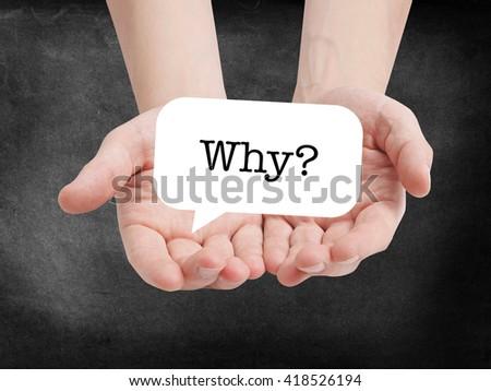 Why? written on a speechbubble - stock photo