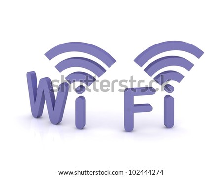 Wi-fi, 3d icon on white background