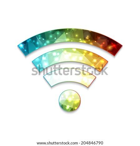 Wi-fi sign. Modern polygonal design - stock photo