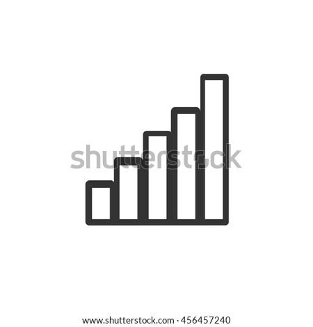 Wi-Fi signal level icon. Simple flat logo of wi-fi signal level on white background. - stock photo
