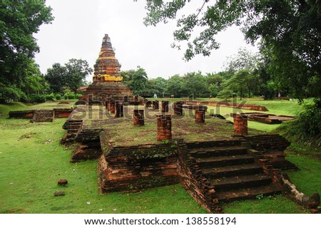 Wiang Kum Kam   ancient of north of thailand - stock photo