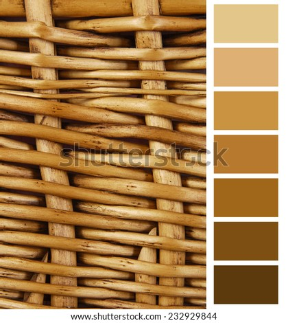 wicker basket color complimentary chart selection - stock photo