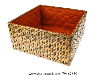 Wicker Box isolated on white background