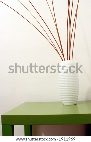 wicker inside a jar in a interiors image