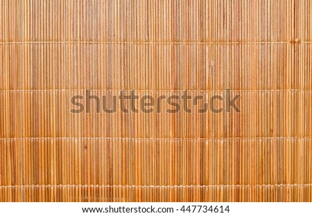 Wicker mat texture or background - stock photo