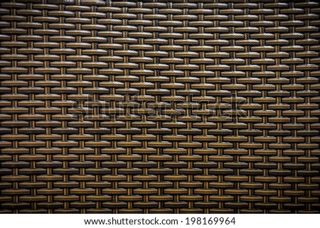Wicker of furniture for background and texture - stock photo