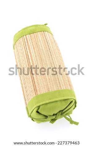 Wicker pillow isolated on white background