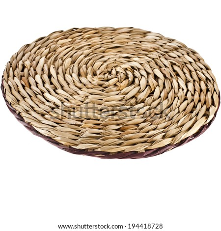 Wicker placemat with clipping path - stock photo