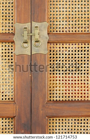 Wicker Rattan Woven Texture Brass handles cabinet  sc 1 st  Shutterstock & Wicker Rattan Woven Texture Brass Handles Stock Photo 121714753 ...