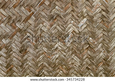 Wicker seamless pattern from bamboo for background design. - stock photo