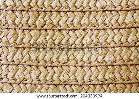 Wicker straw texture close up. - stock photo