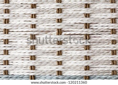 Wicker texture, white and blue color - stock photo