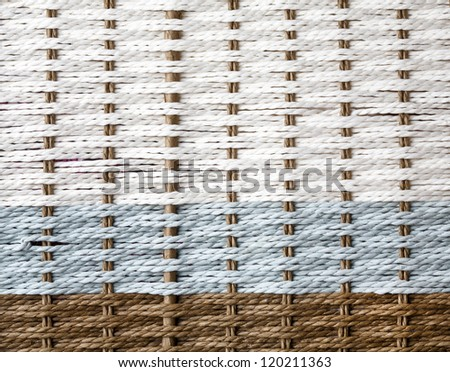 Wicker texture, white,blue and brown color