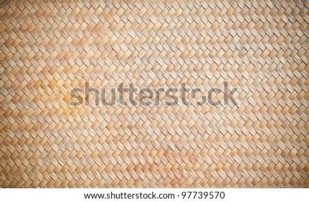 Wicker wood pattern background - stock photo