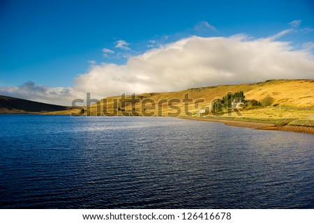Widdop Reservoir Lake.  Hebden Bridge, Calderdale, West Yorkshire, UK, GB, England - stock photo