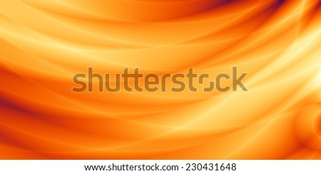 Wide abstract orange sunny web background - stock photo