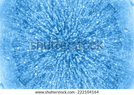 Wide-angle shot of texture ice on Baikal lake in Siberia  - stock photo
