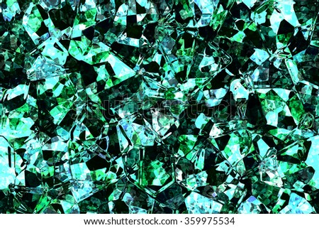 Wide continuous crystal glass pattern  - stock photo