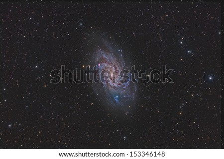 Wide Field View of the Triangulum Galaxy - stock photo
