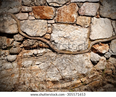 wide horizontal stone wall texture faded