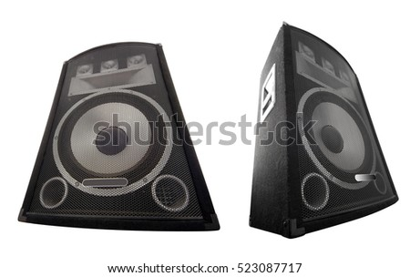 wide loudspeakers set for music