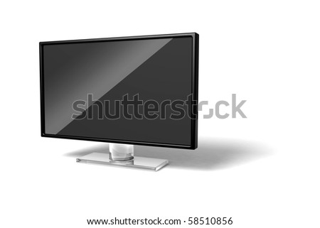 wide screen modern TV icon on white background