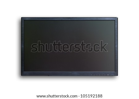 wide screen TV isolated  - stock photo