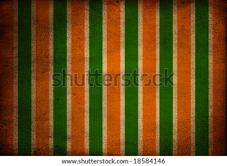 Wide striped grungy background, indian flag - stock photo