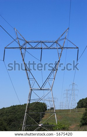 Wide Transmission Tower