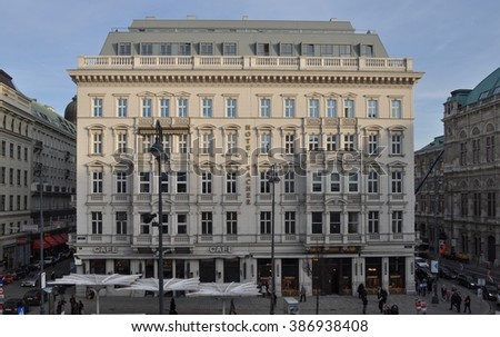 WIEN, AUSTRIA - CIRCA FEBRUARY 2016: The Hotel Sacher