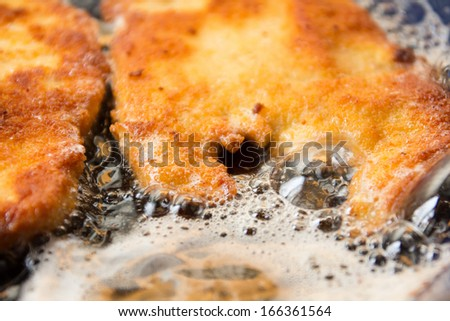 wiener schnitzel - stock photo