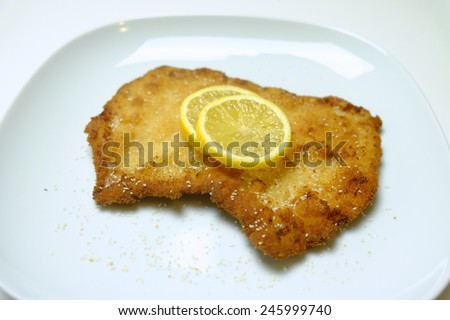 Wiener Schnitzel 9 - stock photo