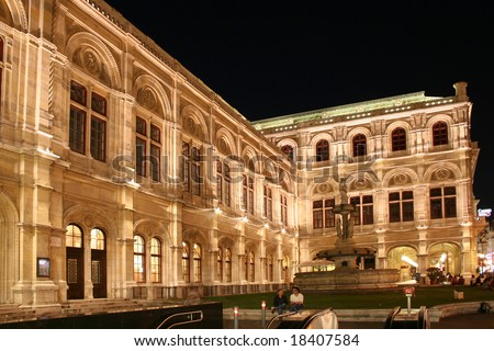 Wiener Staatsoper (Vienna State Opera House), in Vienna, Austria - stock photo