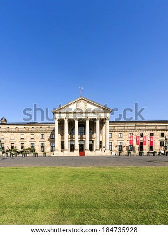 "WIESBADEN, GERMANY - AUG 19: casino Spielbank of Wiesbaden inaugurated in 1810 on August 19, 2012 in Wiesbaden, Germany. Fjodor Dostojewskis novel ""the gambler"" plays in that place."