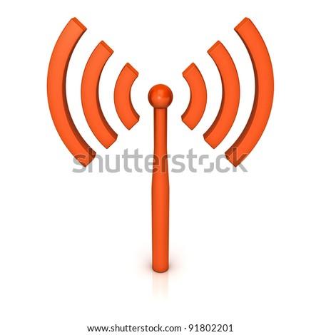 Wifi icon on white background - stock photo