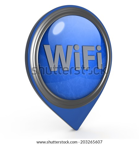 wifi pointer icon on white background