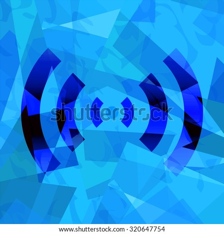 Wifi signal background - stock photo