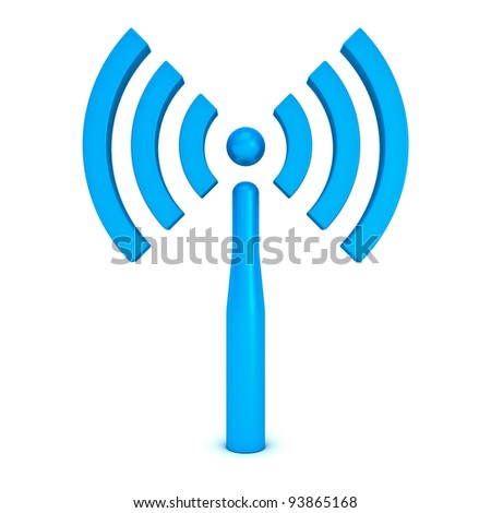 Wifi symbol icon isolated on white background - stock photo