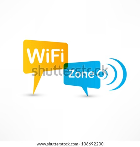 WiFi Zone speech bubbles - stock photo